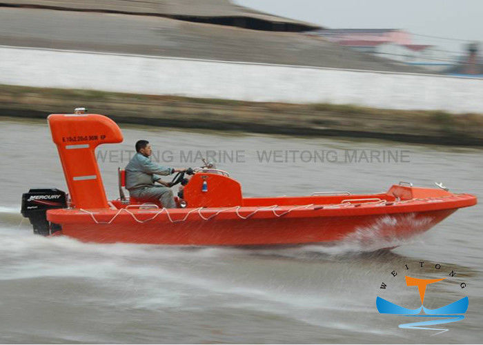 Fast Lifeboat Rescue Boat DNV Certificated Corrosion Resistance 6.0-7.3m Length