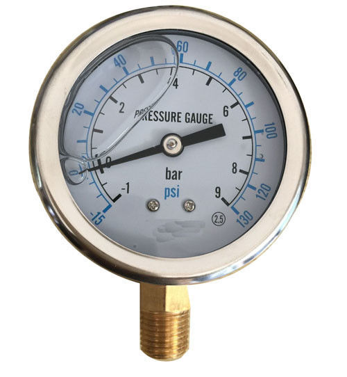 Iron Alloy Marine Oil Filled Marine Industrial Pressure Gauge EN837-1 YN-100