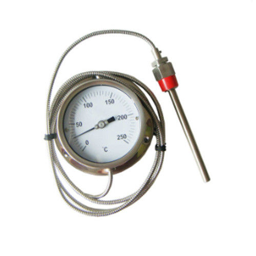 0 - 250 C Stainless Steel Pressure Remote Reading Thermometer With Capillary Tube 3M / 5M